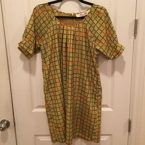 Vintage yellow / multicolor dress
